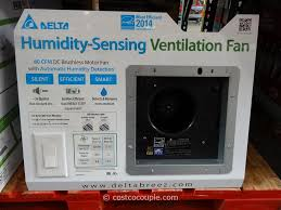 sensing bathroom fan quiet: delta breez humidity sensing bath ventilation fan costco