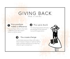 giving back louise eleanor partners women s organizations by donating a percentage of the net profit from