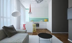 kitchen cabinets yellow walls grey teal modern