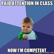 paid attention in class now I'm competent - Success Kid | Meme ... via Relatably.com