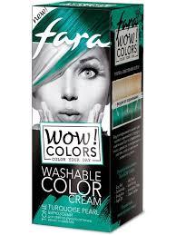 Смываемый <b>оттеночный</b> крем Wow colors тон Turquoise Pearl, 80 ...
