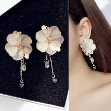 <b>Bohemia Acrylic</b> Flower Women Dangle Drop <b>Earrings</b> | Drop ...
