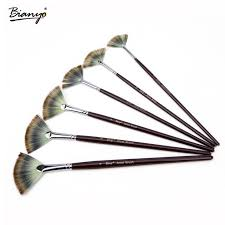 Bianyo <b>6Pcs fan shaped Nylon</b> Hair Gouache Watercolor Paint ...