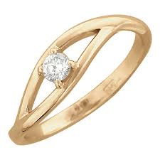 Золотое помолвочное <b>кольцо Эстет 01K616726</b> с бриллиантом ...