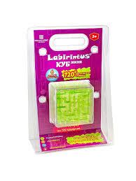 <b>Лабиринтус</b> Куб, 6см, зелёный, прозрачный <b>Labirintus</b> 3159122 в ...