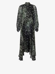 Long <b>silk dress</b> with <b>floral print</b> | GIVENCHY Paris