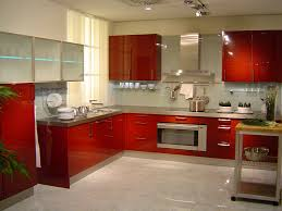 granite countertops combined red kitchen sweet modern red kitchen cabinet combined with stainless steel counter