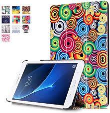 Samsung Galaxy <b>Tab</b> A6 7 inch <b>Case</b> - <b>PU Leather Tablet</b> Shell ...