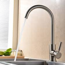 stainless steel kitchen faucets faucet  degree swivel good valued modern hot and cold mixer single handle bru