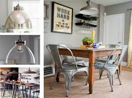 Farmhouse Dining Room Lighting Frugal Farmhouse Kitchen Featuring Barn Light Electric Pendants