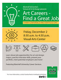 college of arts and media school of art design marshall art careers mini conference friday dec 2nd
