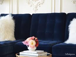 blue sofas living room:  size x navy blue velvet sofa navy blue sofa living room