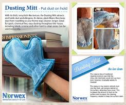 norwex dusting mitt with baclock available in blue green and a kids best way to dust furniture