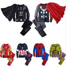 <b>Kids Pajamas Boys Clothes</b> Sets The Avengers Spiderman Baby ...