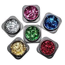 1 Box <b>Aluminum</b> Foils Flakes <b>Nail Glitter</b> Mirror Powders Colorful ...