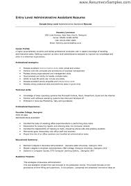 resume examples for administrative assistant entry level sample entry level administrative assistant resume resume examples for resume example entry level