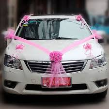 <b>Wedding Car</b> Decor <b>Set</b> Artificial <b>Flower</b> DIY Bowknot Rose Ribbon ...