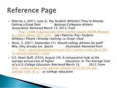 hot essays college athletes should get paid essay argument essay    brandons final portfolio