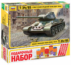 <b>Сборная модель ZVEZDA</b>: <b>Советский</b> средний танк Т-34/85 ...