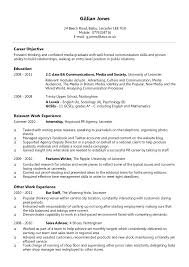 cv sample psychology psychology resume samples