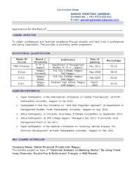 mbafresherresume resumes format for freshers