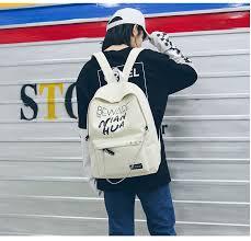 <b>JULY'S SONG</b> Fashion Korean Backpack Unisex Letter Printing ...