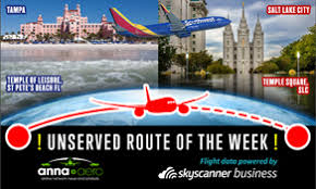 tampa salt lake city is skyscanner unserved route of the week 25000 annual searches a gilt edged opportunity for southwest atlanta tel aviv business