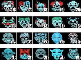 <b>Halloween Mask LED Light Up</b> Party Masks Festival Cosplay ...