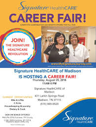 news updates signature healthcare of madison madison career fair flyer 2016