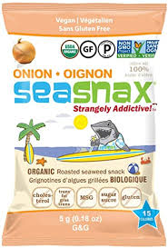 SeaSnax Grab and Go <b>Roasted Seaweed</b> Snack, <b>Toasty Onion</b> ...