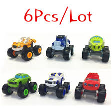 <b>6pcs</b>/<b>set Blaze Car toys</b> Russian Crusher Truck Vehicles Figure ...