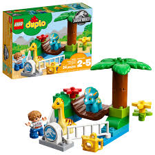 LEGO DUPLO <b>Jurassic World</b> Gentle Giants <b>Dinosaur</b> Petting Zoo ...
