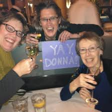kathy landwehr donna janell bowman erin murphy kathy landwehr and cynthia levinson congratulating me from boston i love these ladies