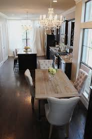 hardware dining table exclusive: veronikas blushing home updates restoration hardware curtains for the kitchen amp dining room chandelier and kitchen table