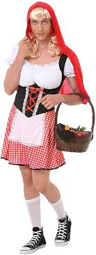 Burly Red Riding <b>Hood</b> Costume - <b>Funny</b> Adult <b>Halloween</b> ...