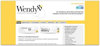 recruitment website design portfolio green umbrella wendy b website