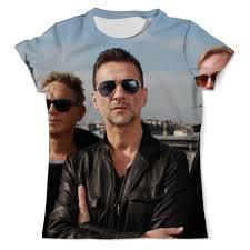 Футболка с полной запечаткой (мужская) Depeche Mode ...