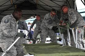 u s department of defense photo essay u s airmen set up a flightline aid station for treating earthquake victims at the tribhuvan international