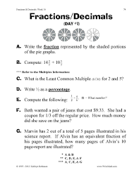 Teaching Fractions Worksheets - 3rd, 4th, 5th GradeJust Turn & Share: Fractions & Decimals – 3rd, 4th, 5th Grade