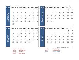 2016 excel 4 month calendar template printable templates 2016 excel 4 month calendar template printable templates gallery