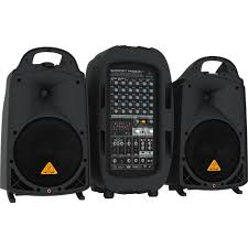 sound system wireless: behringer europort ppabt w  channel portable pa system with bluetooth wireless