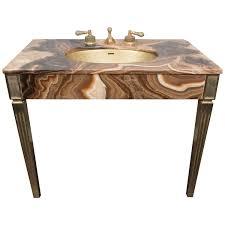 stone sinks bathroom vanities sienna marble vintage bathroom vanity with gold glitter sink by sherle