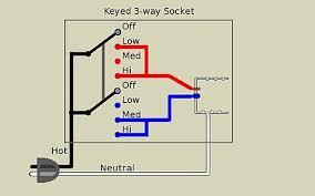 3 way lamp a keyed 3 way socket has two terminals