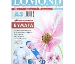 Сублимационная бумага Lomond для струйной печати, матовая ...