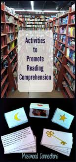 ideas about reading comprehension activities activities to promote reading comprehension