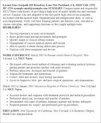 Icu Rn Resume  head nurse resume  nursing experience resume     Zion