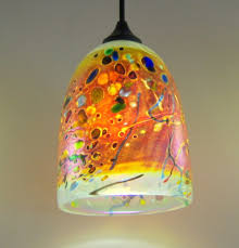 best modern art glass pendant lighting clear glass drope motive awesome colorful dome fusion art glass pendant lighting