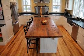 block kitchen island home design furniture decorating: impressive rectangle brown reclaimed wooden butcher block island