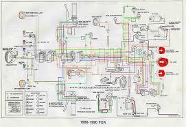 harley davidson wiring diagrams and schematics harley davidson 1986 90 fxr