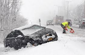 Image result for cars on side of road during snow